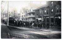 Temperance Parade on North Main Street, Guilford, ca. 1900