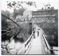 Temporary Foot Bridge, Guilford, 1954