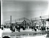 Old Orchard Beach Pier after fire of 1907, Old Orchard, 1907