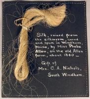 Silk skein, Windham, ca. 1840