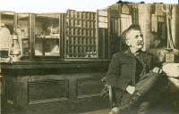 Frank Merrill in Cumberland Center Post Office, ca. 1900