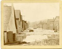 Kennebec River Flood, lower Water Street, Hallowell, 1896