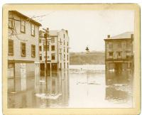 Flood, Corner of Central and Water Streets, Hallowell, 1896