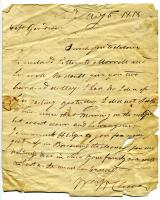 Letter to Captain Nathaniel Goodwin of Biddeford, 1818