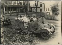 Thursday Club car in parade, Biddeford, 1916