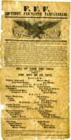 Odd Fellows Poster/Broadside, Biddeford, ca. 1855