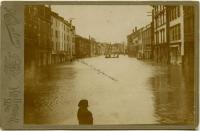 Kennebec River Flood, Business district, Hallowell, 1870