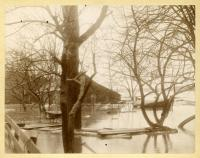 Kennebec River Flood, Lower Water Street, Hallowell, 1896
