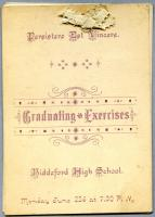 Biddeford High School graduation program, 1890