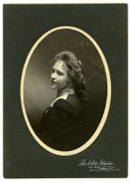 Jennie Carroll graduation portrait, Biddeford, 1900