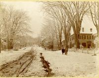 Winthrop Street, Hallowell in Winter, ca. 1895