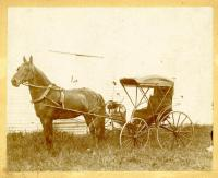 Fred C. Moore's Horse & Carriage, Hallowell, ca. 1900