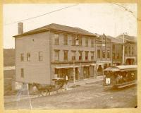 Augusta-Hallowell-Gardiner Railroad Trolley, Water Street, Hallowell, ca. 1895