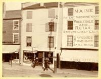 Steeves' Maine Patent Medicine Warehouse, Water Street, Hallowell, ca. 1900