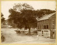 Ingraham's Corner, Winthrop and Water Streets, Hallowell, ca. 1895