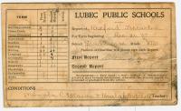 School report card, Lubec, 1907