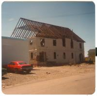 Razing of Columbian Hall, Lubec, 1979