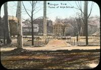 Ruins of Bangor High School after the fire, 1911