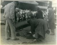 Removal of Brady after shooting, Bangor, 1937