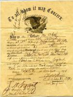 U.S. Army discharge paper for Robert McArthur, 1865
