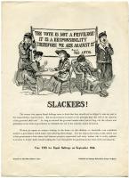 Suffrage campaign poster, Portland, 1917