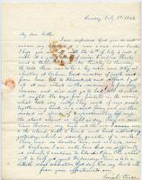 Josiah Pierce letter from school, Limerick, 1840