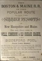 Boston and Maine Railroad Poster, ca. 1890
