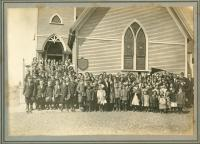 Christian Temple Church congregation, Lubec, ca. 1910