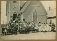 Christian Temple Church congregation, Lubec, ca. 1906