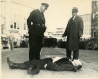 Body of Brady Gang leader, Bangor, 1937