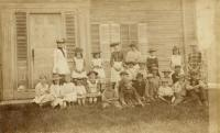 Schoolchildren at Dunn School, North Yarmouth, 1884