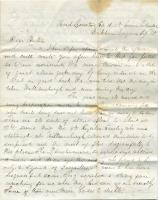 Letter from Luther Lawrence to his brother Frank, September 10, 1862