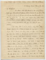 Josiah Pierce letter on activities in Russia, 1856