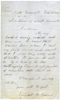 Request from Elizabeth B. Parsons, 1862