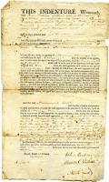 Indenture contract for Samuel Perkins of Arundel, 1805