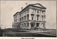 Ruins of Post Office, Bangor, 1911