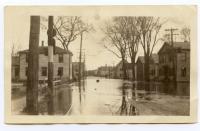 Flood, Joppa looking north, Hallowell, 1923