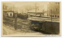 Train Wreck, Granite Works siding, Hallowell, 1919