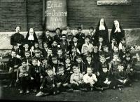 St. Joseph's School students and teachers, Biddeford, 1910