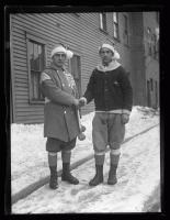French snowshoe club members, Biddeford, 1927