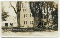 Original Blue Hill Memorial Hospital Building, Blue Hill, ca. 1922