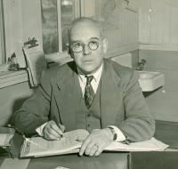 Herbert S. Foster, Sr., Cumberland Town Clerk, ca. 1952