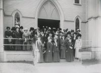 Delegates to Federation of Women's Clubs meeting, Saco, 1911
