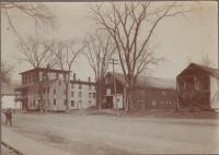 View of Lincoln House and Stables, Lincoln, ca. 1900