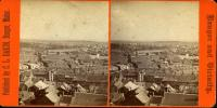 View of Downtown Bangor from City Hall Tower, ca. 1870