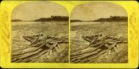 Log Jam at the Penobscot Boom, Bangor, ca. 1885