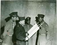 Harold Gordon with 'Flying Torah,' Bangor, 1945