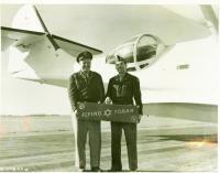 Captain Gordon, pilot, and 'Flying Torah,' Bangor, 1945
