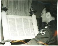 Captain Gordon, 'Flying Torah,' Bangor, 1945