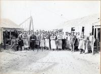 Blue Hill Granite Quarry workers, ca. 1900